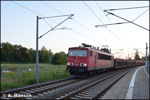 Am 3. August 2017 begegnet mir 155 201-7 mit GA 47353 in Chemnitz-Hilbersdorf