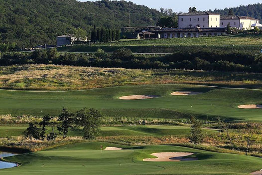 Toskana Siena Golfplatz La Bagnaia Hotel Hilton Curio