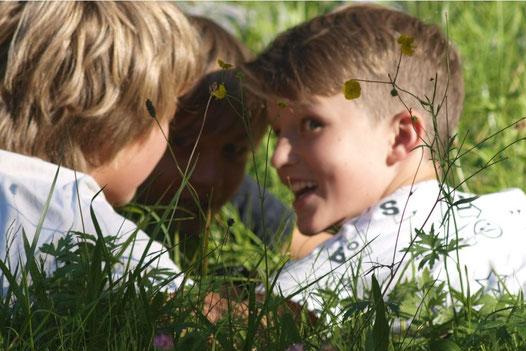 Naturburschen, naturerfüllte Kinder