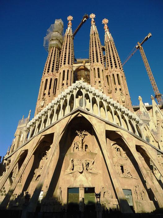 Храм Святого Семейства в Барселоне. Фасад Страстей