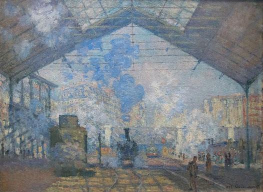 Клод Моне - самые известные картины. Вокзал Сен-Лазар