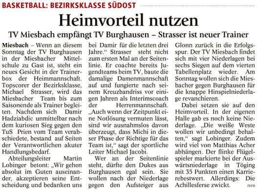Artikel im Miesbacher Merkur am 28.1.2017 - Zum Vergrößern klicken