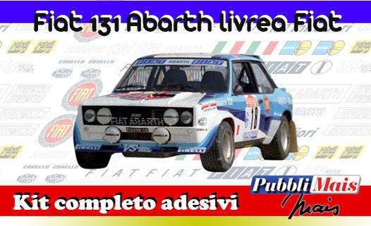 grafica graphics sticker decal kit completo adesivi sponsor originali per fiat abarth 131 livrea fiat 1980 di pubblimais torino