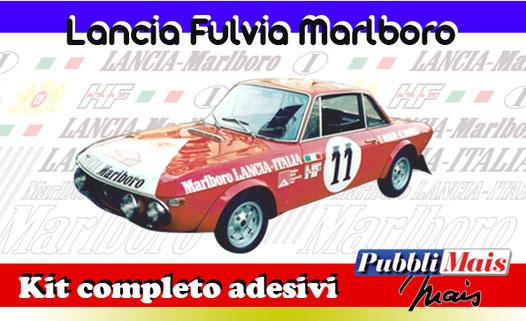 grafica graphics sticker decal kit completo adesivi sponsor originali per lancia fulvia marlboro 1973 munari mannucci di pubblimais torino