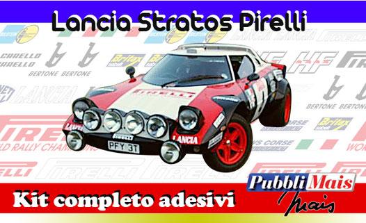 grafica graphics sticker decal kit completo adesivi sponsor originali per lancia stratos pirelli di pubblimais torino