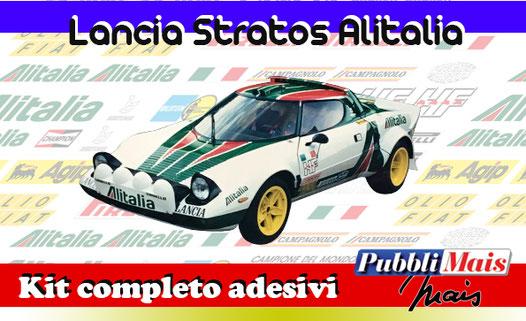 grafica graphics sticker decal kit completo adesivi sponsor originali per lancia stratos alitalia di pubblimais torino