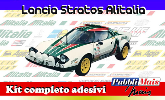 graphics sticker decal kit complete adhesive sponsor original lancia stratos alitalia pubblimais online shop sell cost price