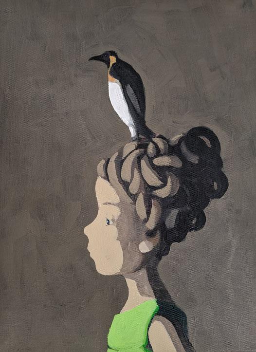 penguin - Acryl auf Leinwand, 40x30cm, 2020 | verkauft