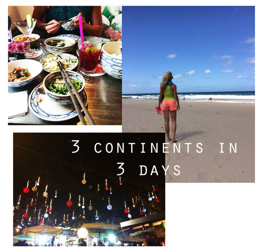 3 continents in 3 days