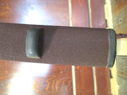 刀の鞘 乾漆粉を蒔く 鯉口