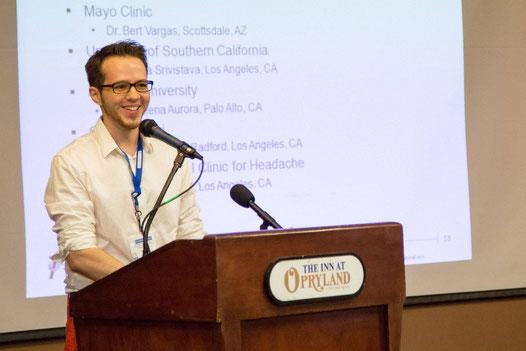 Tim W. bei seinem Vortrag auf der Clusterbusters-Konferenz in Nashville (USA) 2014 | Foto: Clusterbusters