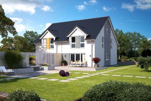 Bärenhaus Doppelhaus Fertighaus-Nord