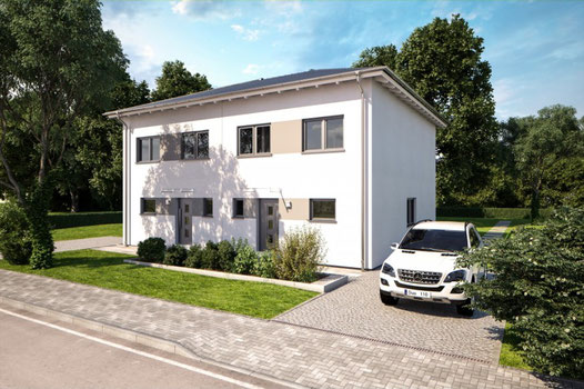 Bärenhaus Doppelhaus Vollgeschoss Fertighaus-Nord