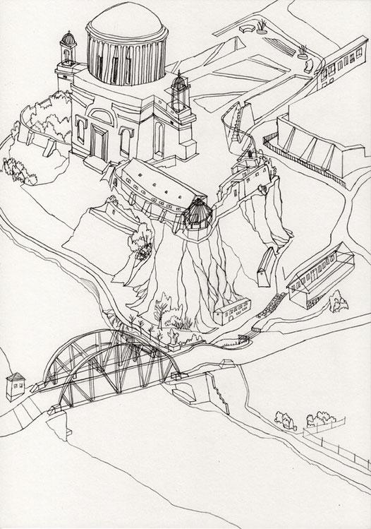 Esztergom . 2015 . Bleistift auf Papier . 29,7 x 21 cm . Privatsammlung