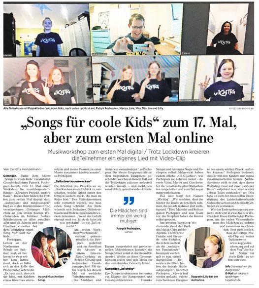 Göttinger Tageblatt vom 18.02.2021