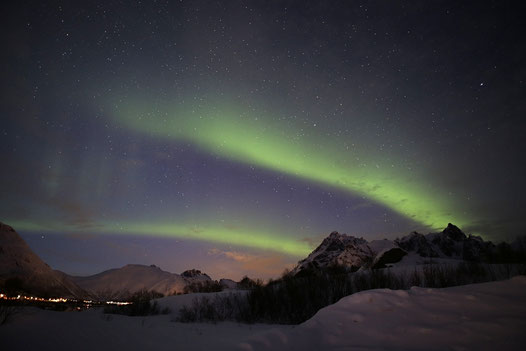 Heute Nacht am Austnes Fjorden