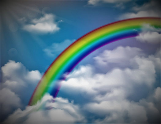 Le trône du Tout-Puissant est entouré d'un arc-en-ciel, symbole de paix, d'espoir, de puissance surnaturelle et de bénédictions divines. Il est en opposition avec l'arc fabriqué des mains de l'homme et associé à la guerre. Jésus règnera au Nom de son Père