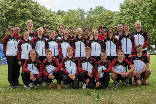 Kanu-Freestyle Nationalmannschaft bei der Europameisterschaft 2021 in Vaires-sur-Marne, Frankreich