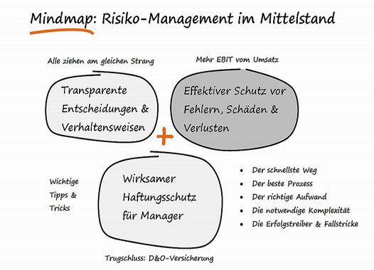 Risiko-Consulting: Mindmap + Infographik. Risiko-Management im Mittelstand.