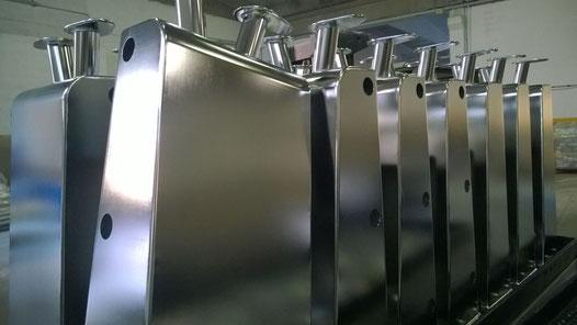 elettrolucidatura su acciaio inox