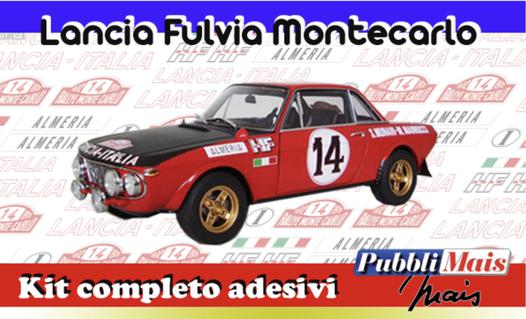 lancia fulvia montecarlo 1972 negozio shop online kit adesivi completi sponsor cerchi