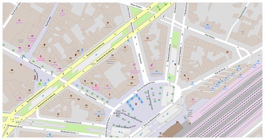 Plan Arras Gare - Boulevard Faidherbe