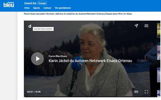 Karin Jäckel im Gespräch mit Pierre Nuss im Studio Radio France Bleu Alsace Straßburg am 20. November 2019 von 11 bis 12 Uhr