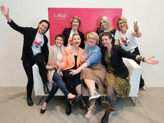 Das Social Media Team Mamma Mia! Tatiana, Claudia, ich und Alex