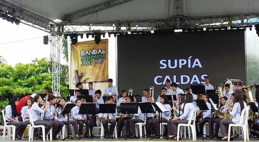 Banda Sinfónica Juvenil Institución educativa Supía, del municipio de Supia, Caldas