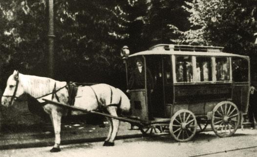 Pferdeomnibus um 1900 - Sammlung Stoffers (Münsterländische Bank Thie - Stadtarchiv)