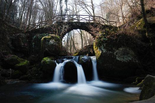 Waterfall Luxembourg, Mullerthal, Schiessentümpel