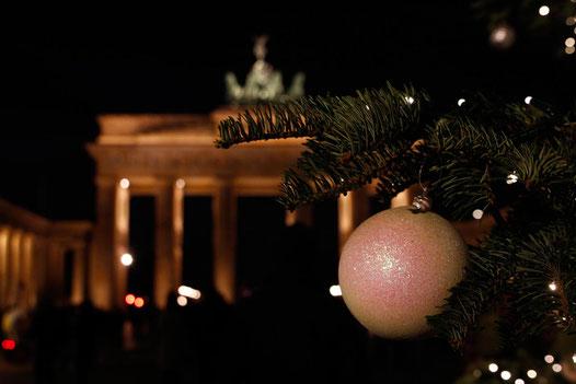 Weihnachten in Berlin, Brandenburger Tor, Weihnachtsmärkte Deutschland