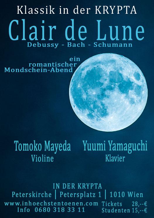Clair de Lune - DEBUSSY-BACH-SCHUMANN u.v.a.   in der KRYPTA