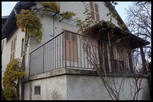barrière fer forgé, sur mesure, aménagement extérieur