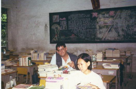 Auf einen Abstecher nach China 1996. Sonntags in einer Schule.