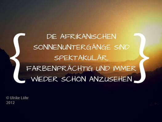 Afrikanische Sonnenuntergänge
