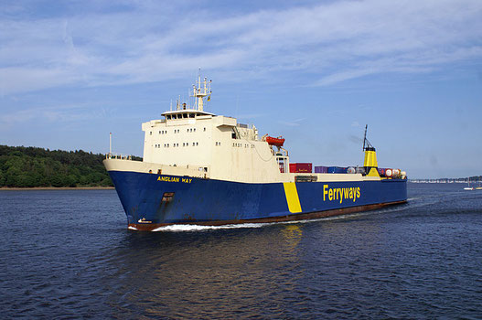 Thomas Wehr as Anglian Way in her Ferryways' livery.