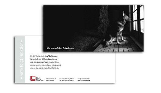 Postkarte Ostern, plan2 werbeagentur metelen