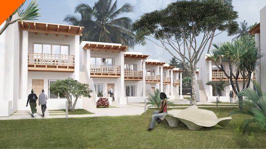 Hotel en Kribi, Camerún. Imágenes 3D para SVAM Arquitectos.