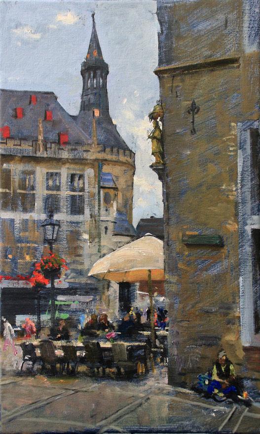 """""""Aachen - Rathaus"""", 30 cm x 50 cm"""