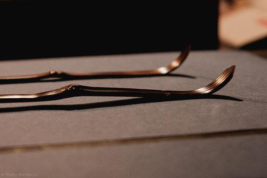 前回の個展「煤竹と茶杓」より