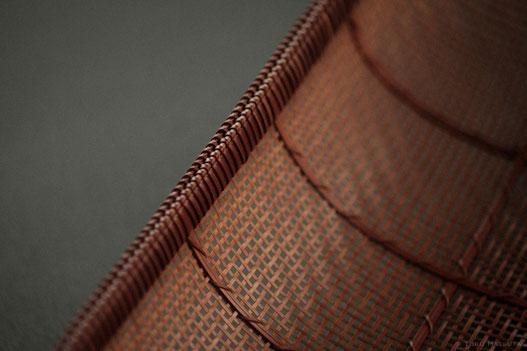 透しの網代編みを組み合わせた盛器の試作(2005)