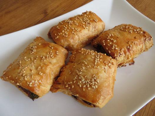 Pittige gehaktbroodjes