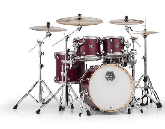 "Armory Series - Satin Cordovan Red - holz: Birke/Ahorn/Birke - inkl. hardware - 20"" / 10"" / 12"" / 14"" / 14""x5,5"" stahl snare"