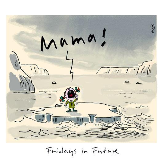 Fridays for future Greta Klimawandel Erderwaermung Karikatur Klima