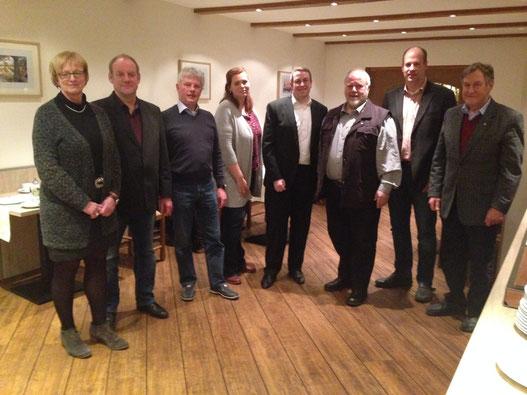 Gruppenfoto des Vorstandes bei der letzten Mitgliederversammlung am 17.03.2016