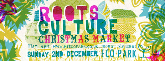 roots culture christmas market at mount pleasant eco park in porthtowan