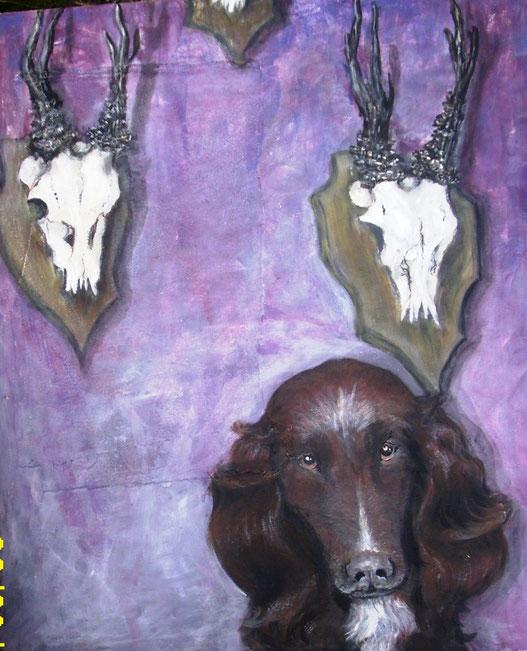 Lilli. Acryl auf Leinwand, 2004. 50 x 60 cm.
