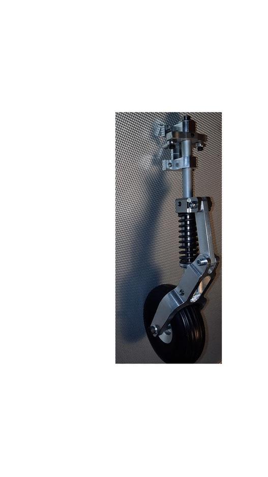 Bugfahrwerksbein mit Doppelhebel für z.B. Seilanlenkung