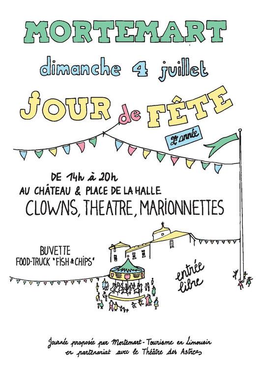 4juillet, clows, theatre, marionnettes